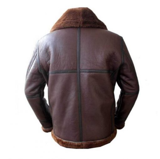 Mens Coffmen Brown Shearling Leather Jacket