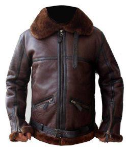 Mens Coffmen Shearling Leather Jacket