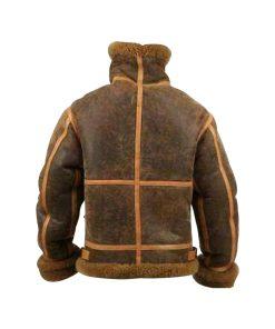 Mens RAF Aviator Brown Shearling Jacket