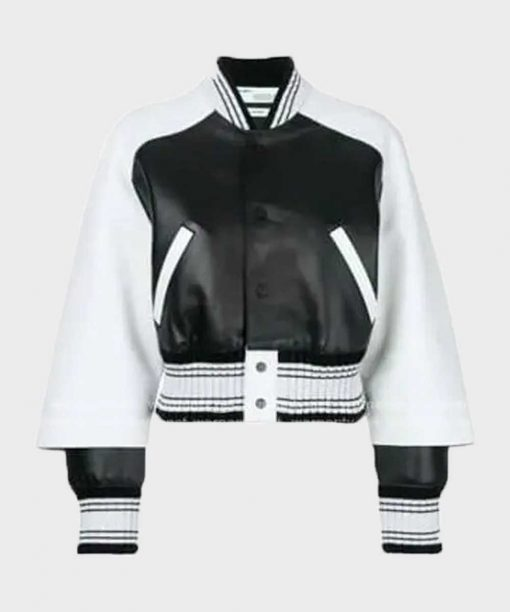 Paris Buckingham Bold and the Beautiful Bomber Leather Jacket