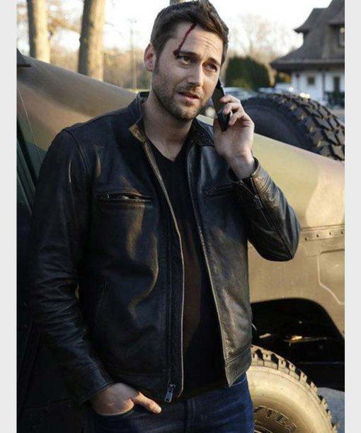 The Blacklist Tom Keen Black Leather Jacket