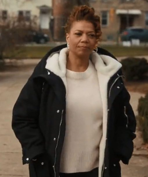 The Equalizer Queen Latifah Black Shearling Coat