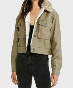 The Flash Allegra Garcia Sherpa Jacket