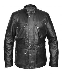 Tom Hardy Real Bane Black Leather Jacket
