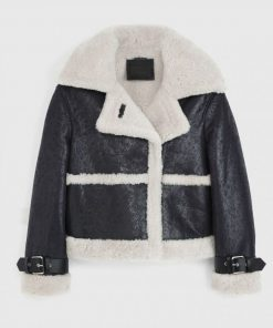 Womens Arlo Shearling Leather Jacket