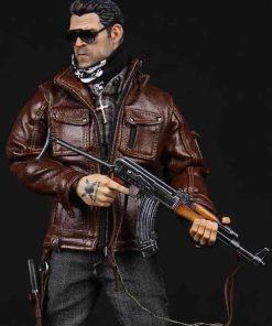 Gangster Kingdom Spade 4 Brown Leather Jacket