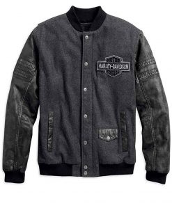 Harley Davidson Mens Bomber Leather Jacket