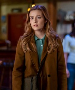 Kennedy McMann Nancy Drew Brown Coat