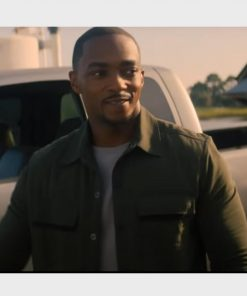 Sam Wilson The Falcon and the Winter Soldier Green Jacket