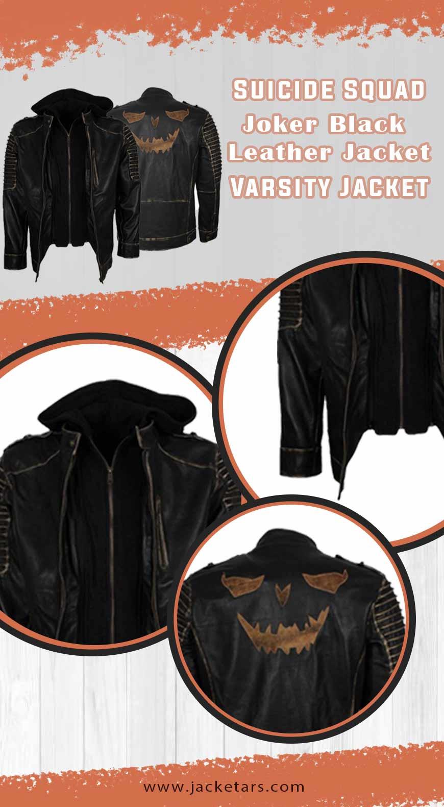 Suicide Squad Joker Black Leather Jacket INFO