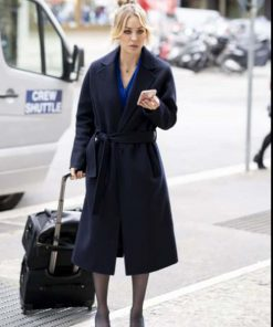 The Flight Attendant Cassie Bowden Black Trench Coat