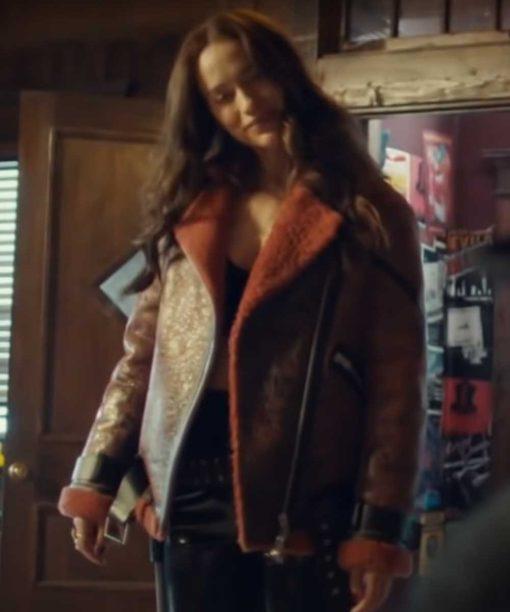 Wynonna Earp Brown Shearling Jacket