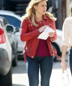 Younger Kelsey Peters Red Leather Jacket
