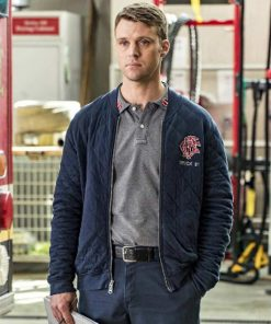 Chicago Fire Matthew Casey Quilted Jacket