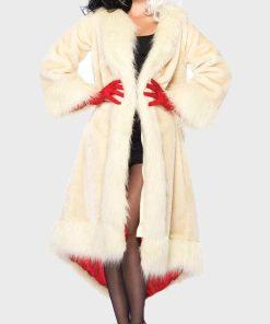 Cruella De Vil Cream Fur Coat