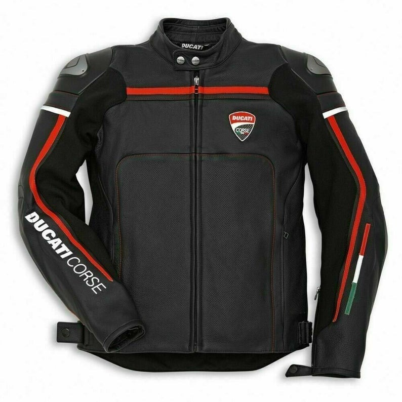 Ducati Corse Motorcycle Leather Jacket Product For Sale