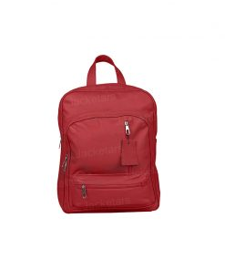 Genuine Red Leather Backpack