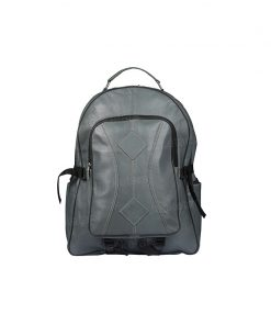 Grey Genuine Leather Backpack