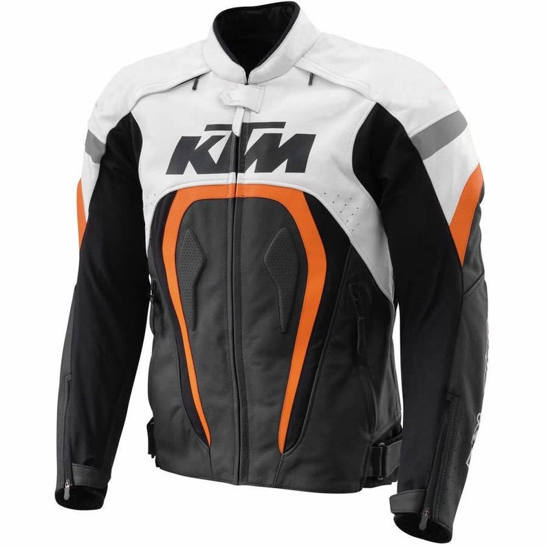 KTM Motorcycle Leather Jacket Men Jacket Product in real leather just for sale