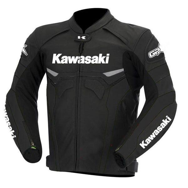 Kawasaki Street Biker's Leather Jacket Product For Sale