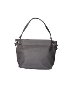 Women Grey Leather Tote1
