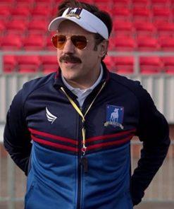 2021 TV Series Ted Lasso Jason Sudeikis Satinn Blue Jacket