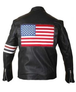 American Flag Leather Motorcycle Jacket