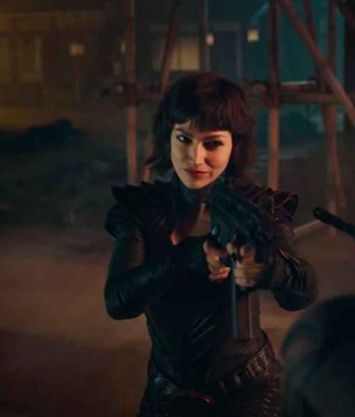 Baroness Snake Eyes G.I. Joe Origins Black Leather Jacket