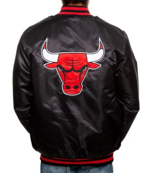 Chicago Bulls Black and Red Jacket