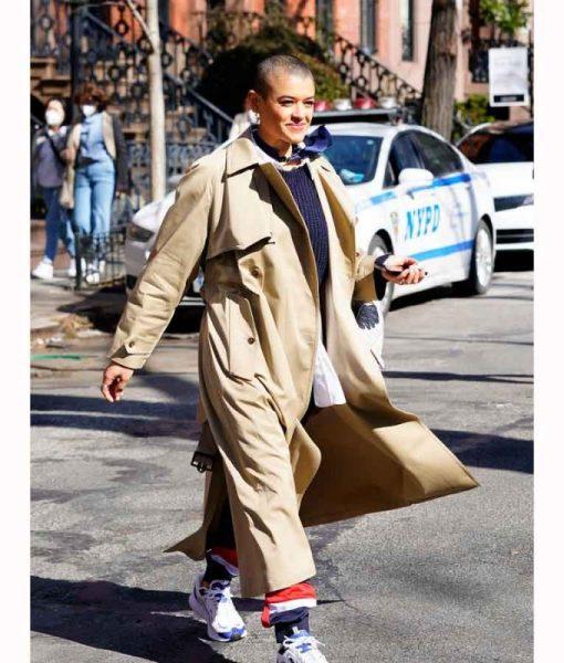 Gossip Girl 2021 Jordan Alexander Brown Long Coat