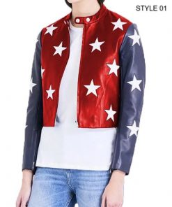 Independence Day Womens Cropped Jacket