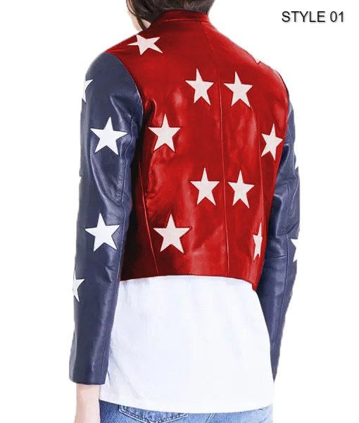 Independence Day Womens Cropped Jacket Style 1