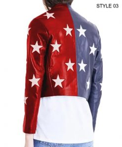 Independence Day Womens Cropped Jacket Style 3