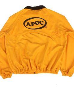 Jungkook Apoc Euphoria Yellow Cotton Bomber Jacket Back