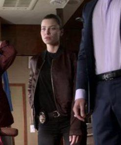 Lucifer S05 Lauren German Maroon Jacket