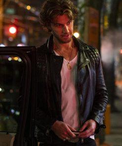 Sex Life Brad Simon Jacket Adam Demos Black Leather Jacket