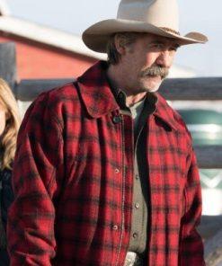 Shaun Johnston Heartland Jack Bartlett Wool Plaid Red Jacket