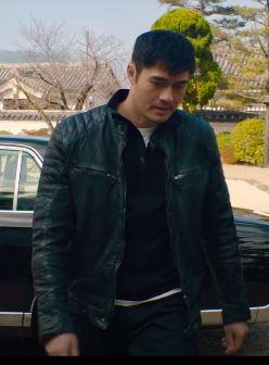 Snake Eyes 2021 Henry Golding Black Leather Jacket