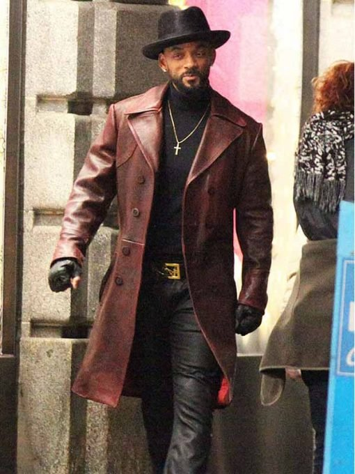 Will Smith Suicide Squad Deadshot Trench Coat
