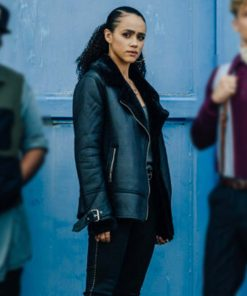 Army of Thieves Gwendoline Black Leather Jacket