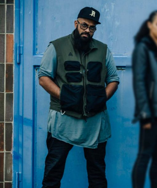 Army of Thieves Rolph Green & Black Vest