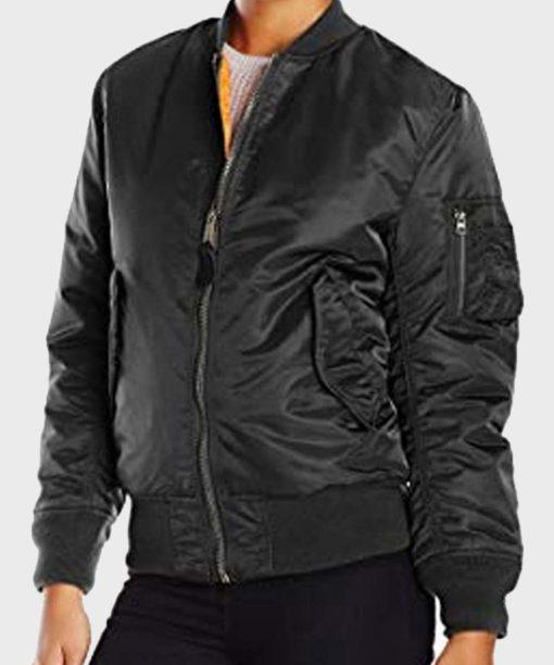 Black Widow 2021 Bomber Leather Jacket
