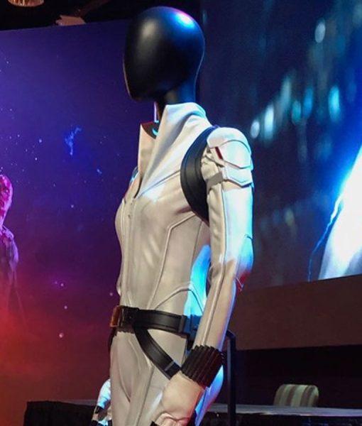 Natasha Romanoff Black Widow 2021 White Jacket