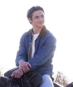 Cameron Kweller He's All That Tanner Buchanan Denim Shearling Collar Jacket