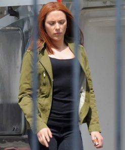 Captain America The Winter Soldier Black Widow Green Jacket