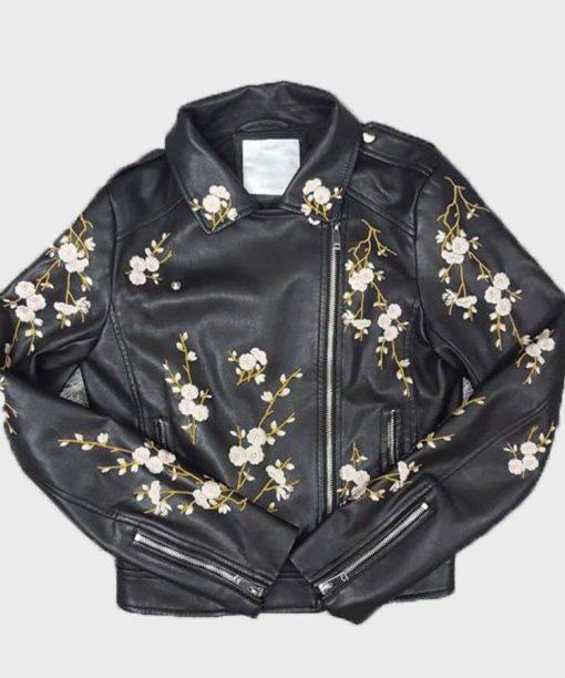 Find Me In Paris Lena Grisky Black Leather Jacket