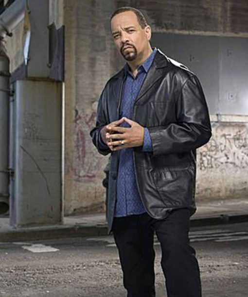 Law and Order Odafin Tutuola Black Leather Jacket