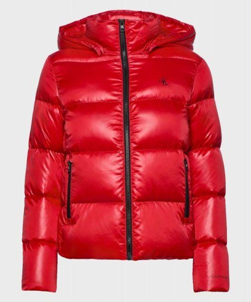 Men Red Puffer Jacket