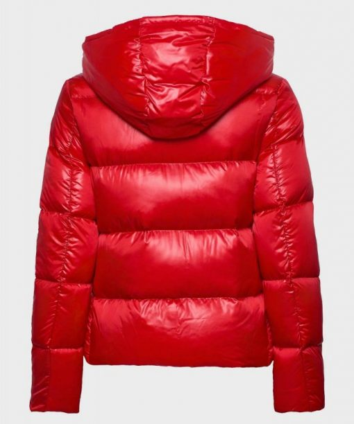 Mens Red Puffer Jacket