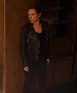 Natasha Romanoff Black Widow Motorcycle Leather Jacket